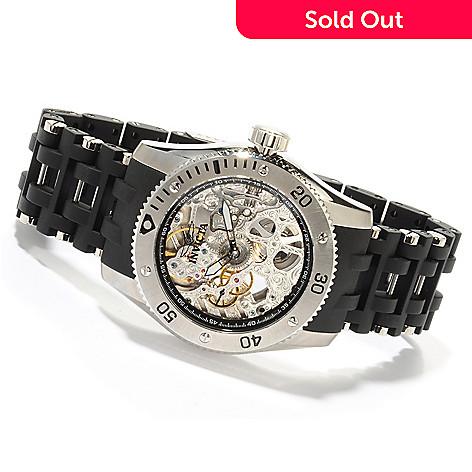605-554 - Invicta Men's Sea Spider Skeleton Mechanical Bracelet Watch