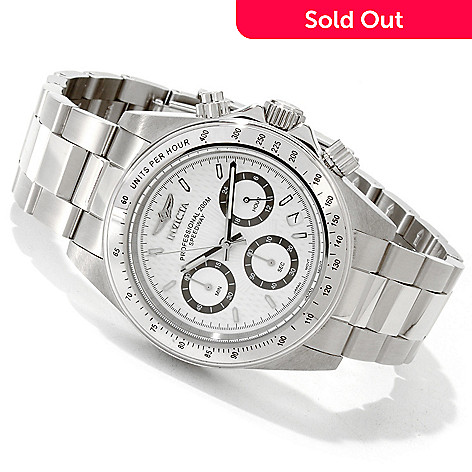 605-557 - Invicta Men's Speedway Quartz Chronograph Stainless Steel Bracelet Watch