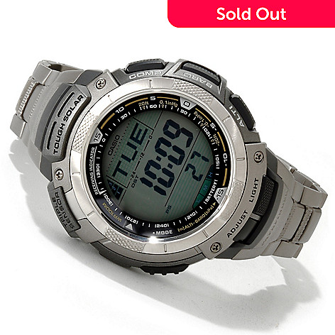 605-638 - Casio Men's Pathfinder Digital Quartz Titanium Bracelet Watch
