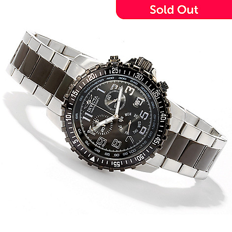 605-679 - Invicta 45mm Sport Quartz Chronograph Tachymeter Stainless Steel Bracelet Watch