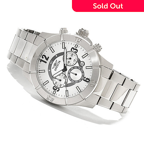 605-707 - Invicta II Men's Sport Quartz Chronograph Stainless Steel Bracelet Watch