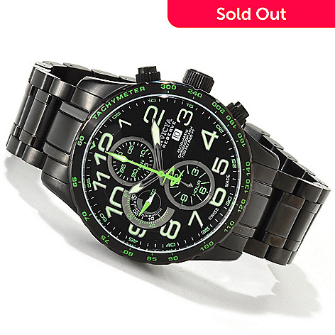 605-711 - Invicta Reserve Men's Military Swiss Automatic Chronograph Tachymeter Stainless Steel Bracelet Watch