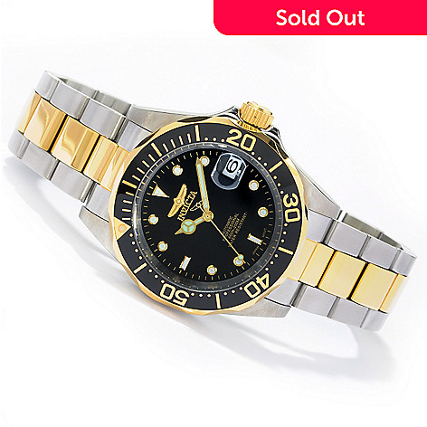 605-723 - Invicta 40mm Pro Diver Automatic Stainless Steel Bracelet Watch w/ Three-Slot Diver's Case