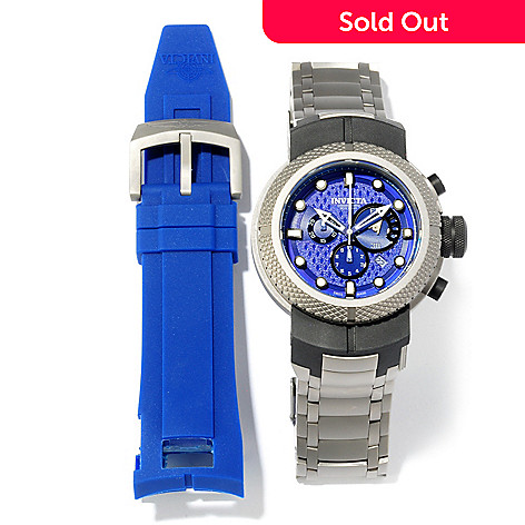 605-727 - Invicta Men's Coalition Forces Pistol Titanium Bracelet Watch w/ Extra Polyurethane Strap
