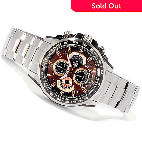 605-756 - Casio Edifice Men's Quartz Chronograph & Tachymeter Bracelet Watch