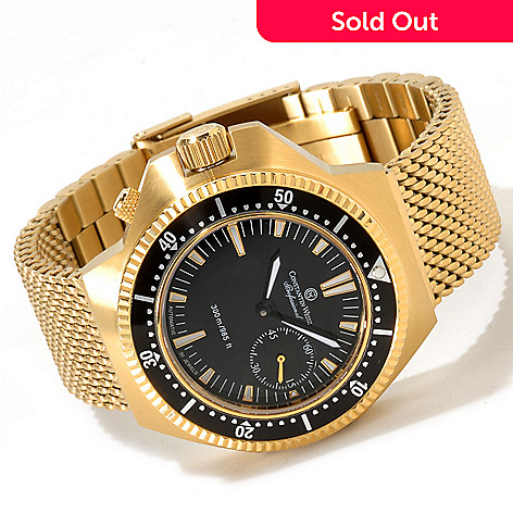 605-791 - Constantin Weisz Men's Professional Diver Automatic Stainless Steel Mesh Bracelet Watch