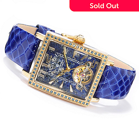 605-795 - Constantin Weisz Women's Mechanical Crystal Accent Strap Watch