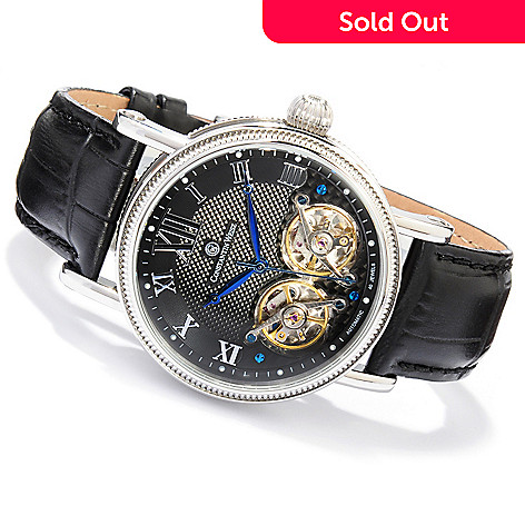 605-801 - Constantin Weisz Men's Double Escapement Automatic Strap Watch