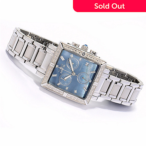 605-804 - Invicta Women's Angel Quartz Chronograph Stainless Steel Bracelet Watch