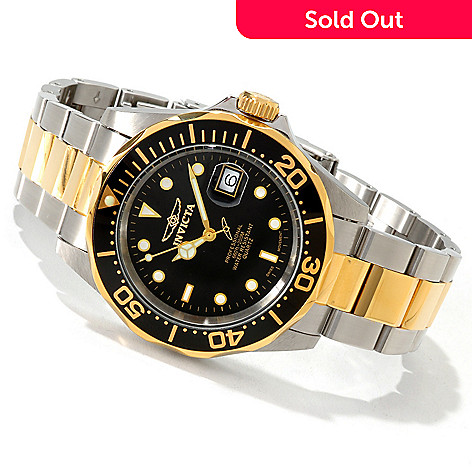 605-817 - Invicta 40mm Pro Diver Quartz Stainless Steel Bracelet Watch