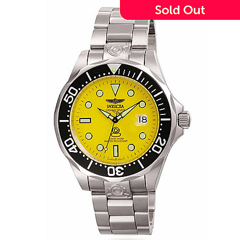 605-834 - Invicta Men's Grand Diver Automatic Stainless Steel Bracelet Watch w/ Diver's Case