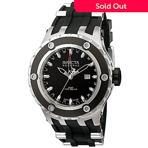 605-859 - Invicta Reserve Men's Specialty Subaqua Swiss Quartz GMT Strap Watch