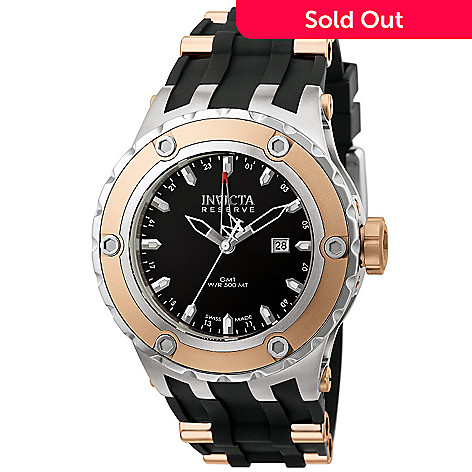 605-864 - Invicta Reserve Men's Specialty Subaqua Swiss Made Quartz GMT Rubber Strap Watch w/ Diver's Case