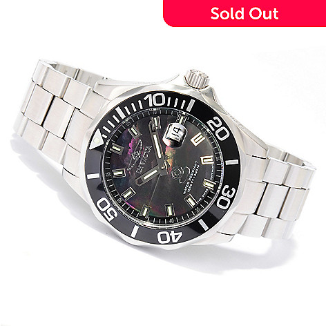 605-877 - Invicta Men's Limited Edition Grand Diver Swiss Automatic Mother-of-Pearl Dial Stainless Steel Watch