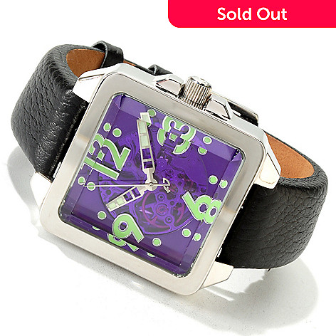 605-908 - Android Men's Galactopus 40 Automatic Skeleton Strap Watch