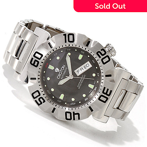 605-975 - Croton Men's Vortex Automatic Stainless Steel Bracelet Watch