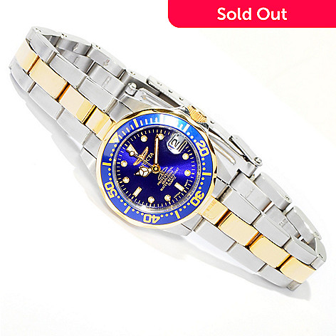 605-991 - Invicta Women's Pro Diver Sunray Dial Two-tone Stainless Steel Bracelet Watch
