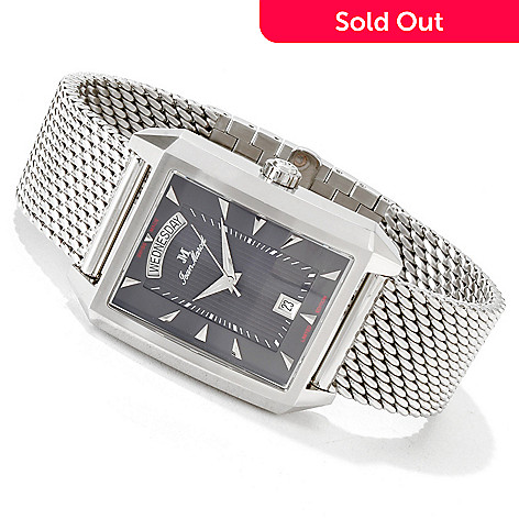 606-023 - Jean Marcel Men's Quadrum Limited Edition Swiss Automatic Bracelet Watch