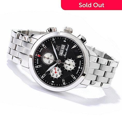 606-026 - Jean Marcel Men's Semper Limited Edition Swiss Made Automatic Chronograph Watch
