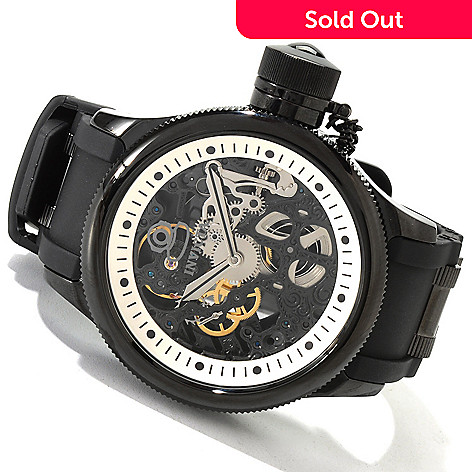 606-065 - Invicta Men's Russian Diver Mechanical Skeletonized Strap Watch