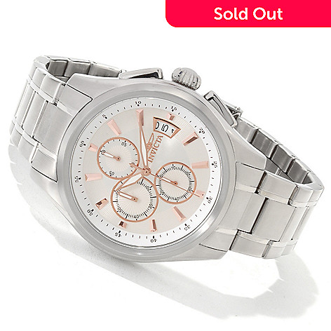 606-067 - Invicta Men's Specialty Quartz Chronograph Stainless Steel Bracelet Watch