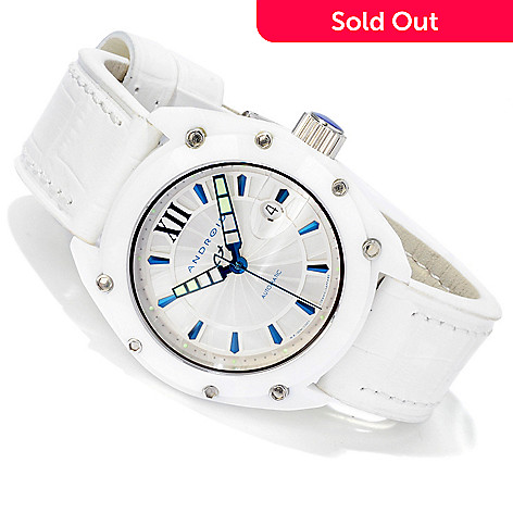 606-070 - Android Men's Virtuoso 45 Ceramic Limited Edition Swiss Automatic Leather Strap Watch