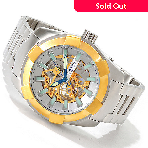 606-071 - Android Men's Naval 2G Skeleton Automatic Stainless Steel Bracelet Watch