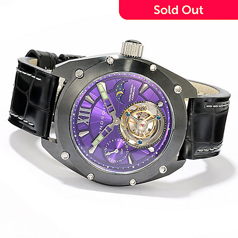 606-074 - Android Men's Virtuoso Ceramic Limited Edition Tourbillon GMT Mechanical Watch
