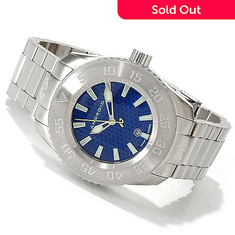 606-078 - Android Men's Divemaster Maxjet Automatic Honeycomb Dial Stainless Steel Bracelet Watch