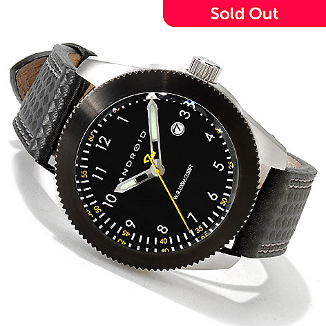 606-080 - Android 45mm RPM Japanese Quartz Stainless Steel Leather Strap Watch