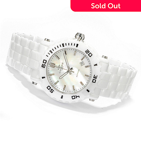 606-110 - Oniss Women's Vivid Quartz Mother-of-Pearl Dial Ceramic Bracelet Watch