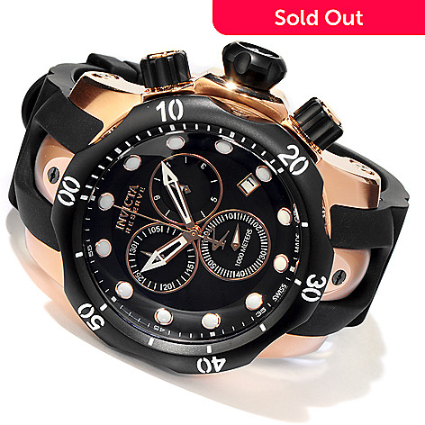 606-142 - Invicta Reserve Men's Venom Swiss Chronograph Strap Watch w/ 8-Slot Dive Case