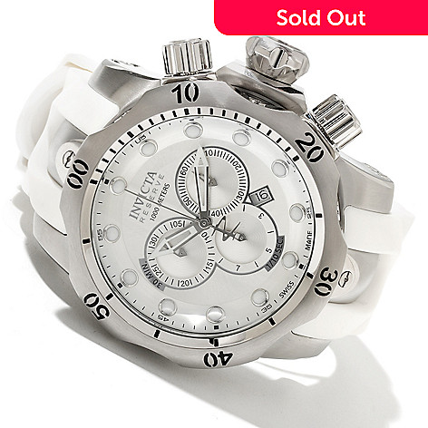 606-154 - Invicta Reserve Men's Venom Swiss Quartz Chronograph Stainless Steel Polyurethane Strap Watch