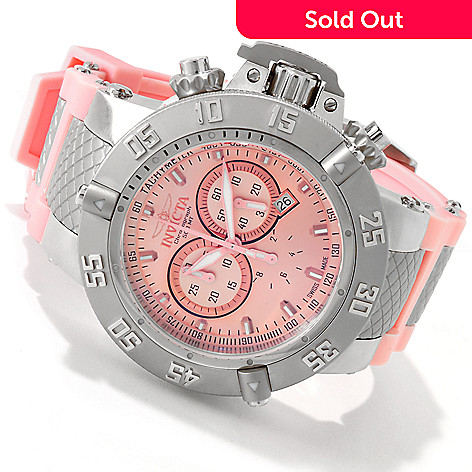 606-157 - Invicta Men's Subaqua Noma III Swiss Made Quartz Chronograph Light Pink Silicone Strap Watch