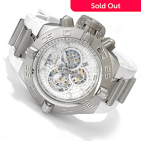 606-163 - Invicta Men's Subaqua Noma IV Swiss Made Quartz Chronograph Tachymeter White Polyurethane Watch