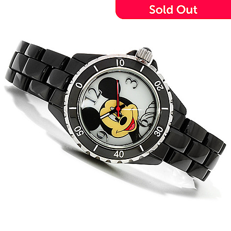 606-190 - Disney Women's Collectible Characters Quartz Ceramic Bracelet Watch