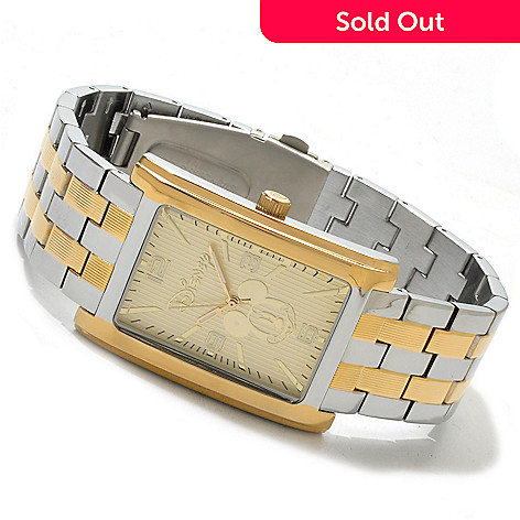 606-197 - Disney Mickey Mouse Quartz Two-tone Bracelet Watch