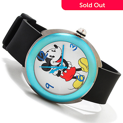 606-222 - Disney Midsize Mickey Mouse Strap Watch w/ Four Interchangeable Bezels