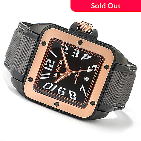 606-272 - Invicta Men's Specialty Quartz Stainless Steel Case Leather & Techno Fiber Strap Watch
