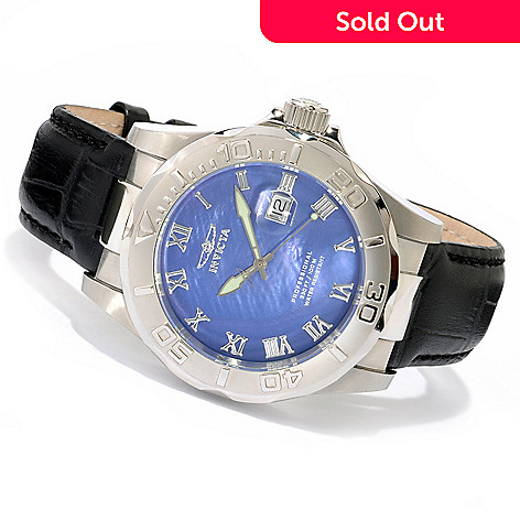 606-274 - Invicta Pro Diver Elite Stainless Steel Mother-of-Pearl Strap Watch