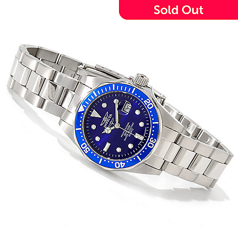 606-279 - Invicta Women's Pro Diver Quartz Stainless Steel Bracelet Watch