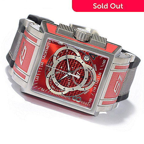 606-281 - Invicta Rectangular S1 Touring Swiss Chronograph Stainless Steel Strap Watch