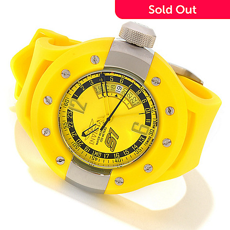 606-283 - Invicta Men's S1 Rally Swiss Quartz GMT Stainless Steel Polyurethane Strap Watch