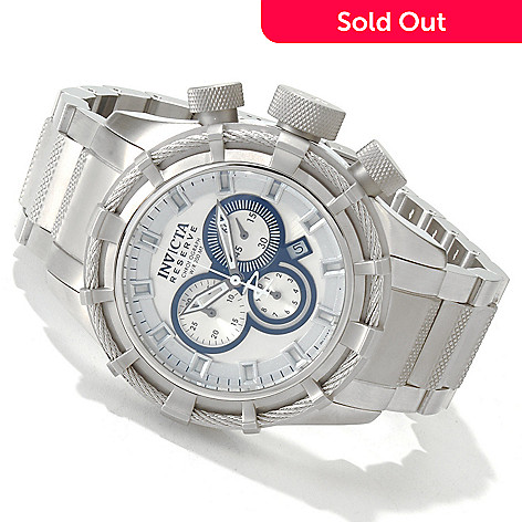 606-311 - Invicta Reserve Men's Bolt Swiss Quartz Chronograph Stainless Steel Bracelet Watch