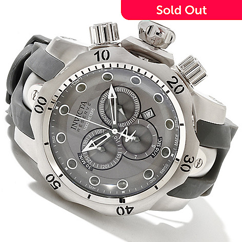 606-314 - Invicta Reserve Men's Venom Swiss Made Quartz Chronograph Stainless Steel Case Strap Watch