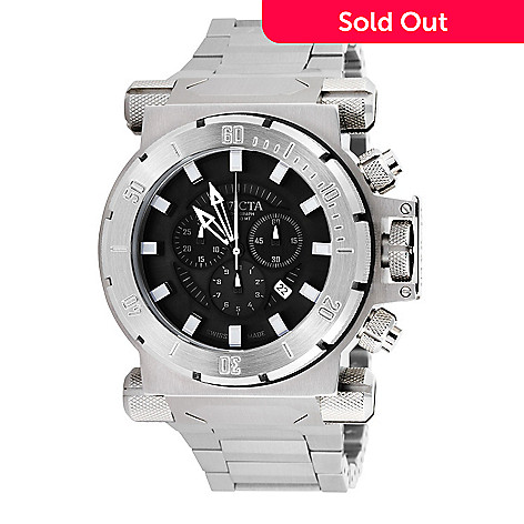 606-374 - Invicta Men's Coalition Force Swiss Quartz Chronograph Stainless Steel Bracelet Watch