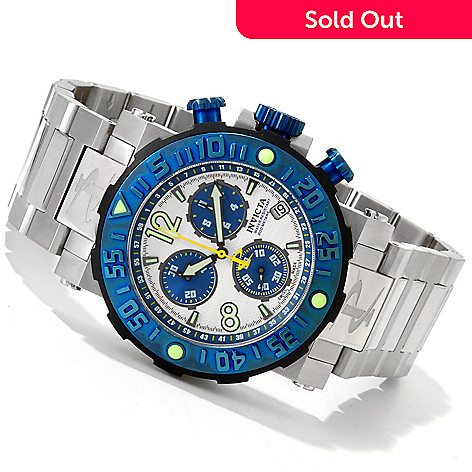 606-379 - Invicta Reserve Men's Sea Rover Swiss Made Quartz Chronograph Stainless Steel Bracelet Watch