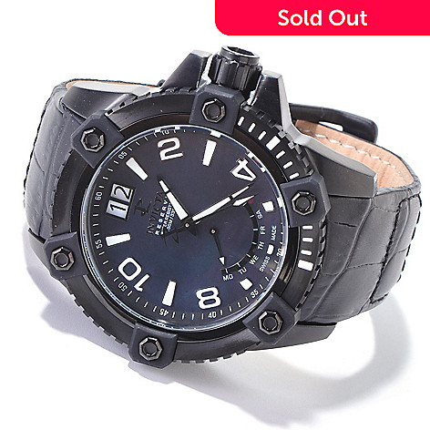 606-380 - Invicta Reserve Men's Arsenal Swiss Made Quartz Mother-of-Pearl Strap Watch
