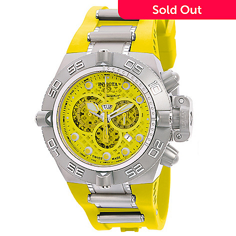 606-397 - Invicta Men's Subaqua Noma IV Swiss Made Chronograph Stainless Steel Case Polyurethane Strap Watch