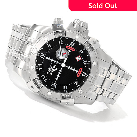 606-412 - Invicta Men's FLIGHT Series Quartz GMT Stainless Steel Bracelet Watch